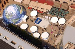 Aerial View of BMW display during World Summit on Sustainable Development